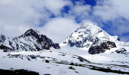 Cima delle Pale Rosse and Gran Zebrù - Königsspitze from South