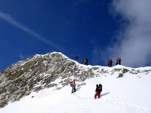Cima Sud delle Pale Rosse - Starting the climb