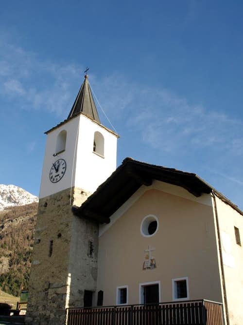 Tour above Roisan & Aosta Blavy ancient Chapel 2015
