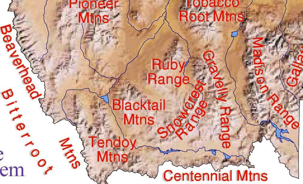 Southwest Montana mountain ranges : Photos, Diagrams & Topos ...
