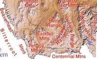 Southwest Montana mountain ranges