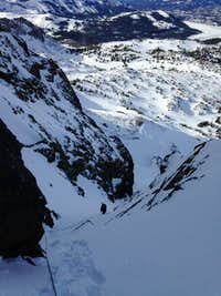 Snow slope to east buttress
