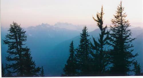 Sunrise on Dome Peak and the...