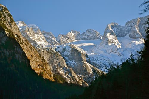 The Dachstein group and the Gosau glacier