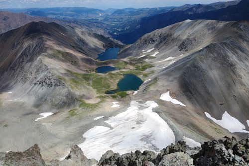 Copper Lakes from Stinkingwater Peak