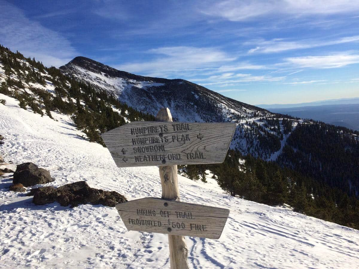 Humphreys Peak December Climb