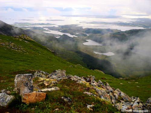Dronningruta, view over the Vesterålen archipelago