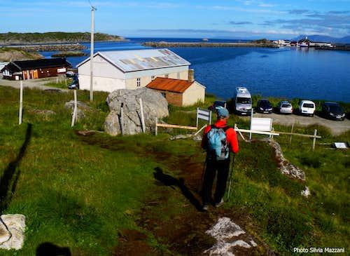 Dronningruta, arrival in Stø