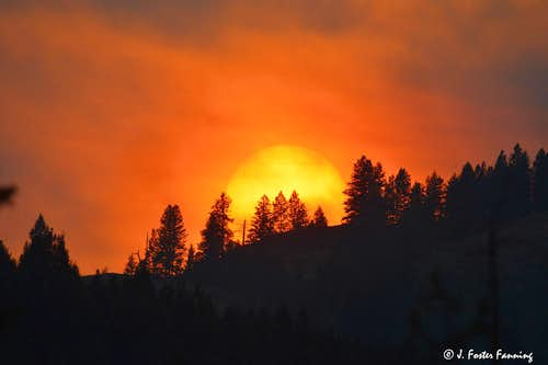 Red Sun Over The Okanogan Highlands