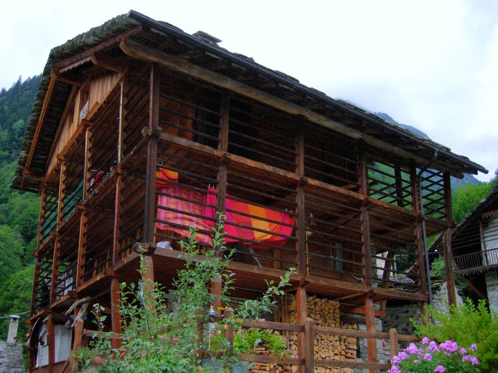 Walser house in Val Sesia