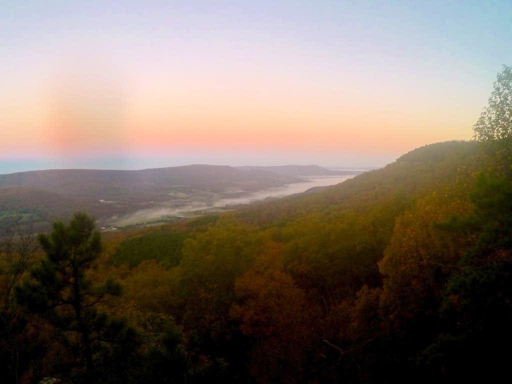 a foggy dawn