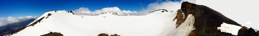 Ruapehu summit plateau from Dome Ridge