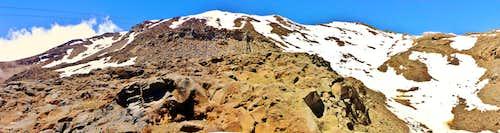 Ruapehu Dome Route - top of Knoll Ridge