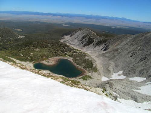 Heart Lake on descent