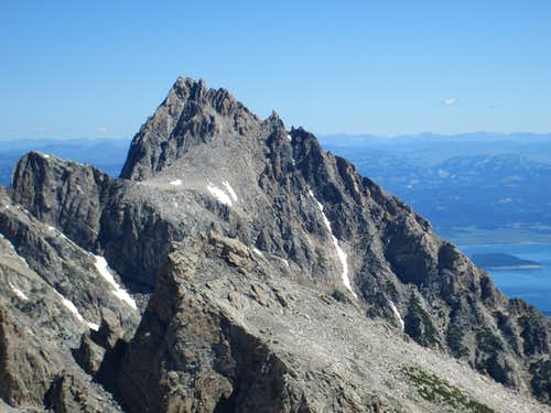 Teewinot and Disappointment Peak seen from the summit of Cloudveil Dome, Teton Range, WY