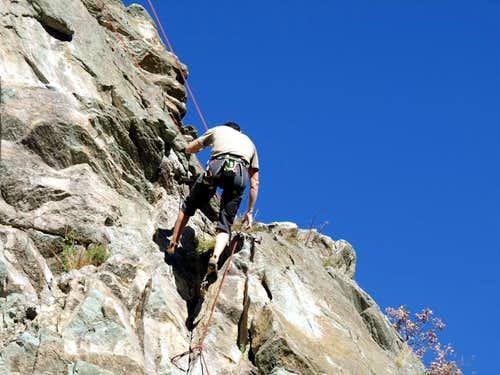 Death to Life / b Climbing on Vollein Necropolis 2015