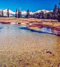 Spring run-off Tuolumne Meadows