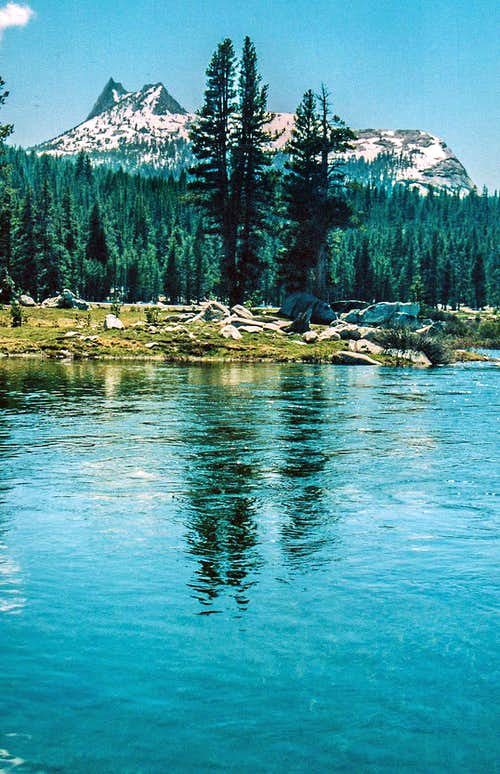 Cathedral Peak from the Tuolumne River