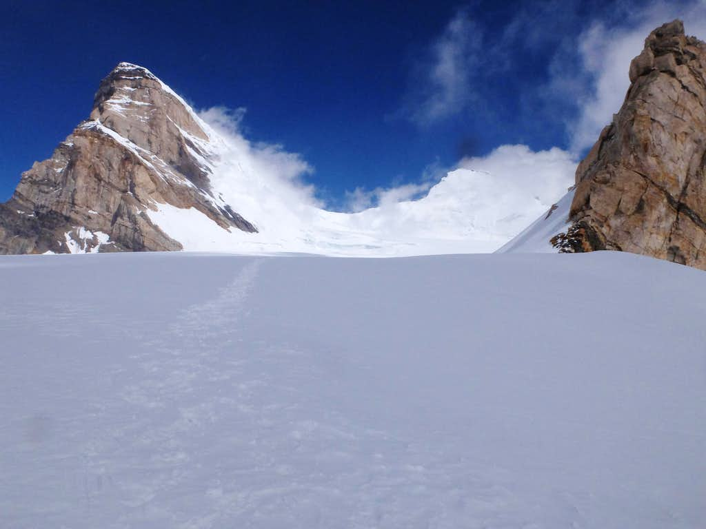 Kun (left) Pinnacle Peak (right) from NunKun Plateau