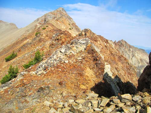 the summit & the scrambling sections