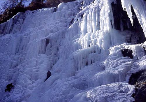 Climbing on Wuse falls....