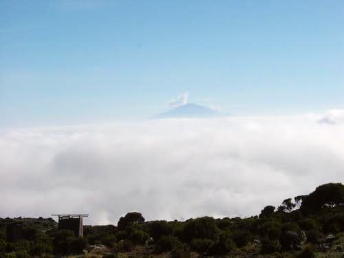 Mount Meru seen from Shira...