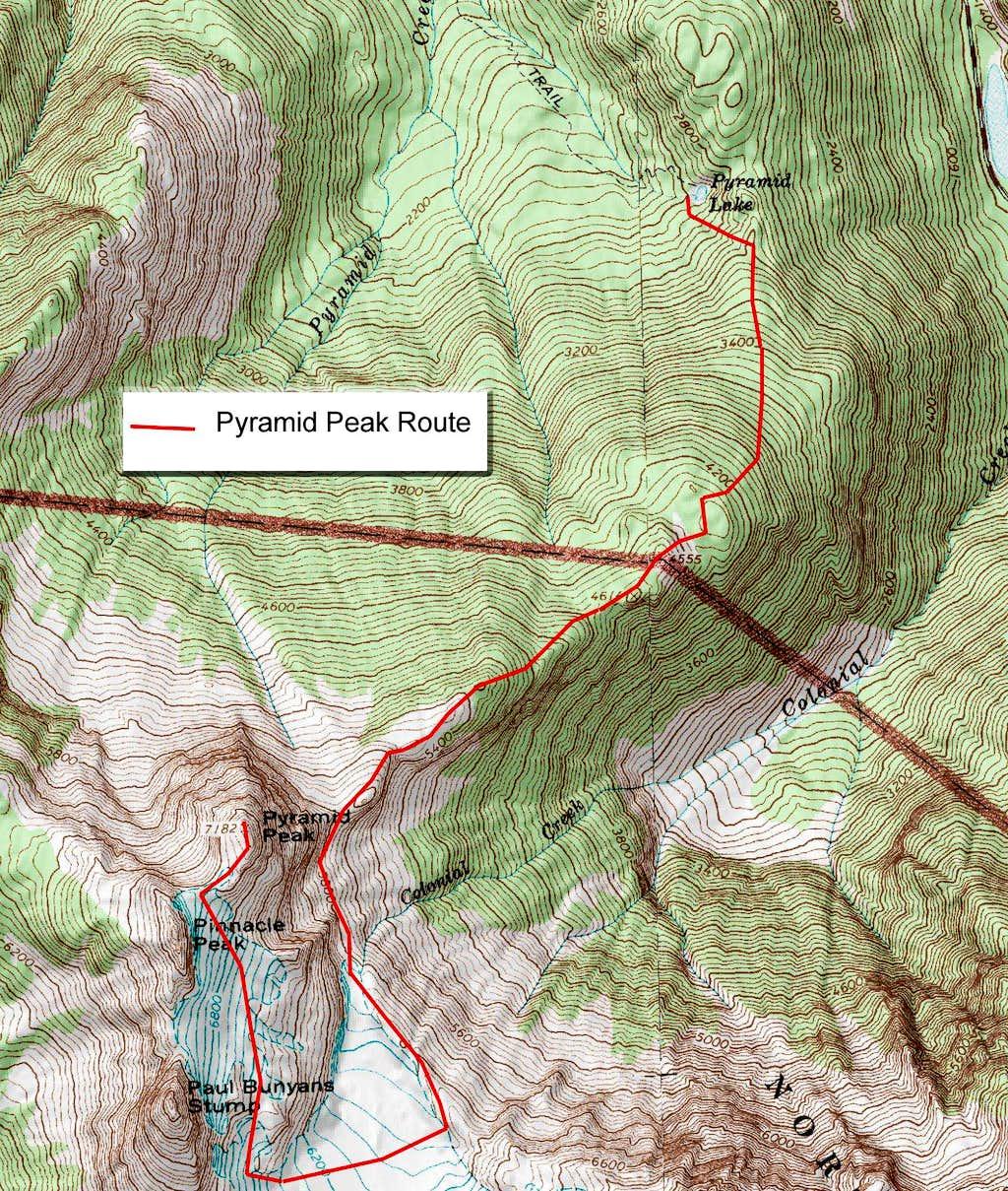 Pyramid Peak Route
