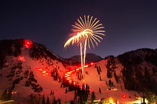 Mt. Baldy on New Year's Eve