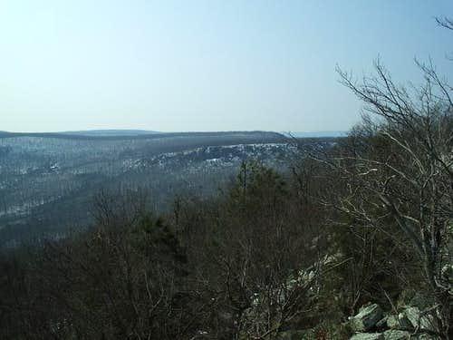 Looking towards Hawk Mountain...
