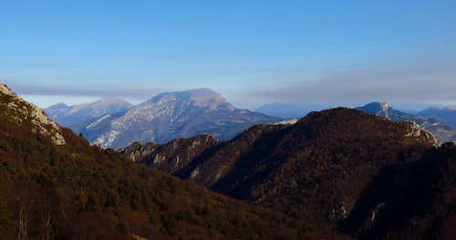 Carone summit view towards Monte Stivo