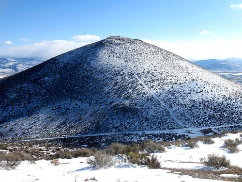 Peak 6105 seen from Nine Hill