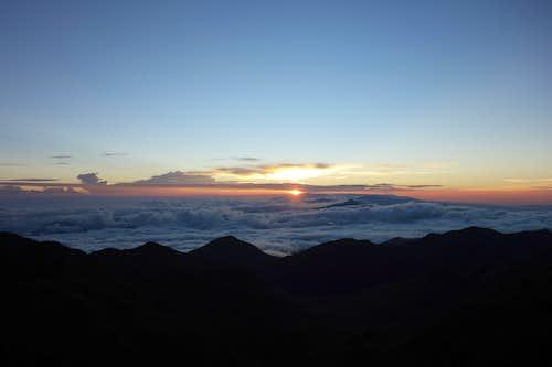 Sunrise from Cerro Chirripo