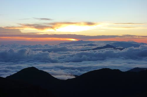 Sunrise from Cerro Chirripo.