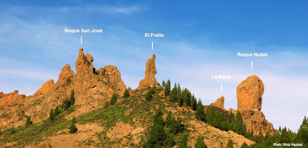 Roque Nublo and its brothers