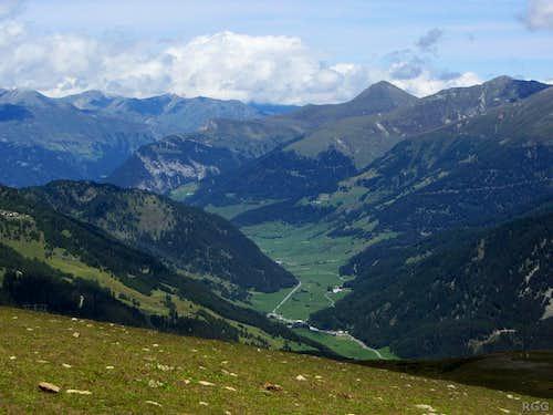 View down the Stillerbach valley