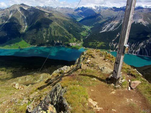 Zehnerkopf 'summit' view to the ENE