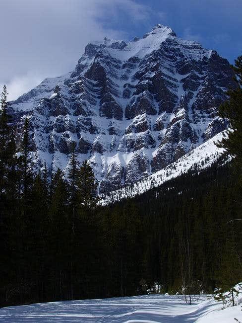 Impressive east slope of Mt....