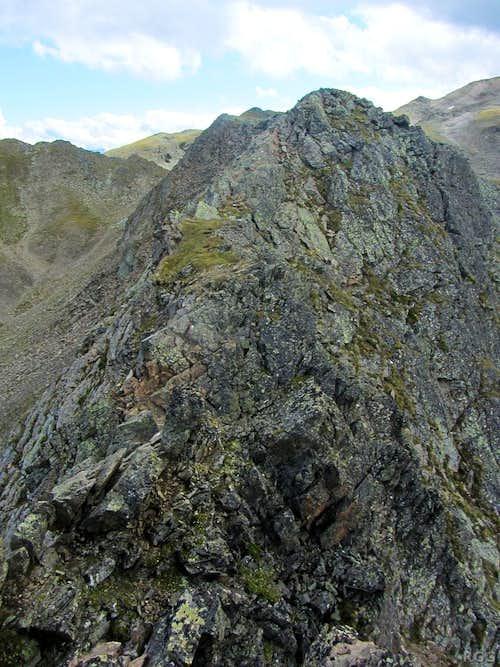Big drops alongside the Zehner south ridge