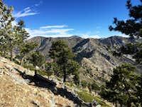 Throop Peak and Mt. Hawkins from Islip Ridge