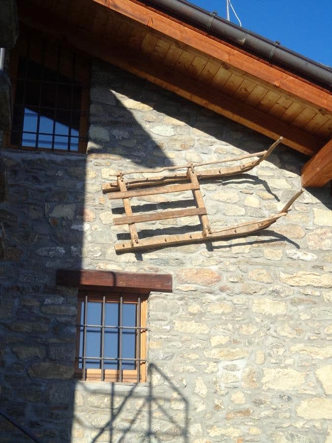 Unnamed Vallon Old sled for transport firewood 2015
