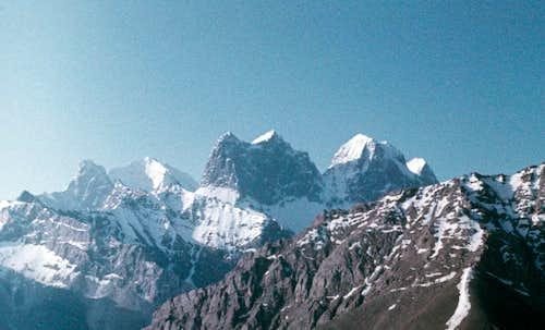 Peaks of Aksu region