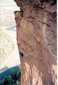 Me leading the second pitch....
