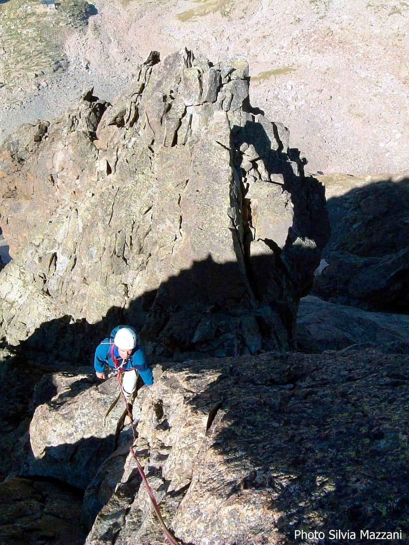 Climbing on Cima di Nasta