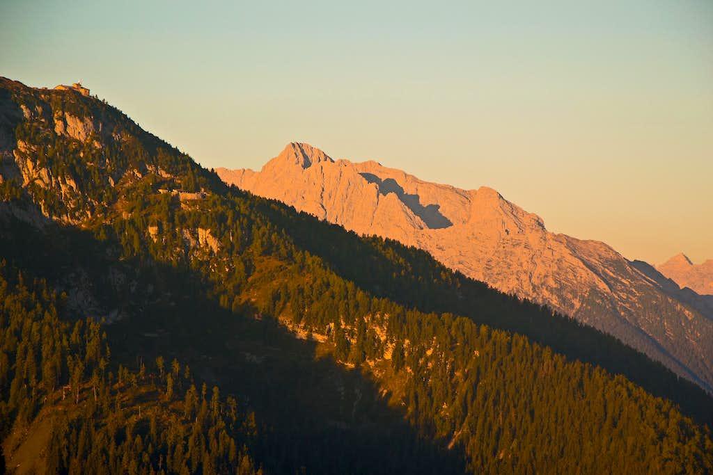 Early morning light on the Hochkalter