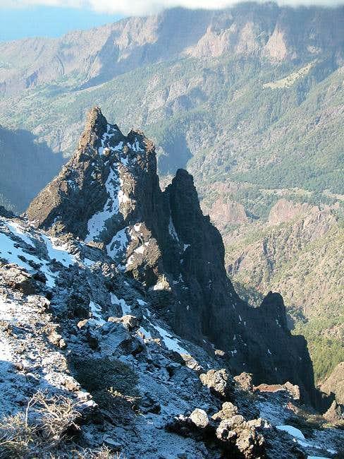 Summit view Pico de la Nieve:...