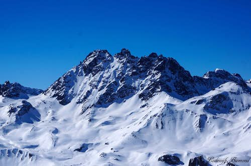 Fluchthorn (3398m; East Face)