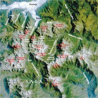 Sattelite map of Prokletije...