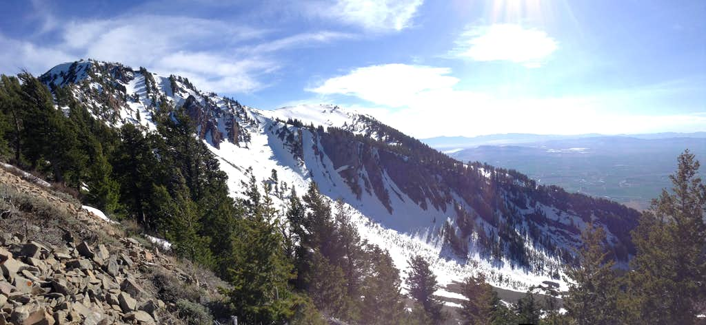 Wellsville Cone from southern ridge
