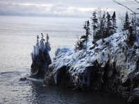 Icy Point in Lake Superior