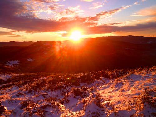 Sunset from Mt. Eisenhower